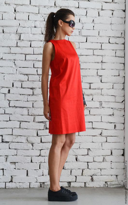 Платья ручной работы. Ярмарка Мастеров - ручная работа. Купить Короткое красное платье, платье летнее. Handmade. Платье