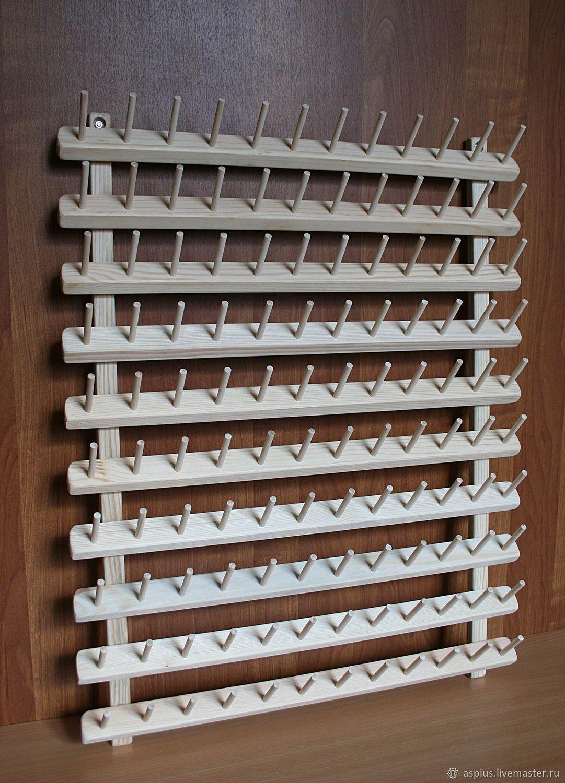 Подставка-стенд для ниток, катушек. (диам.ДО 4см) 120 мест, Органайзеры, Москва, Фото №1