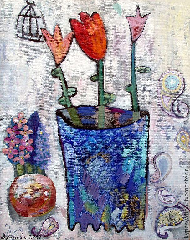 Tulips in a vase mother of pearl, Pictures, Krasnoyarsk,  Фото №1