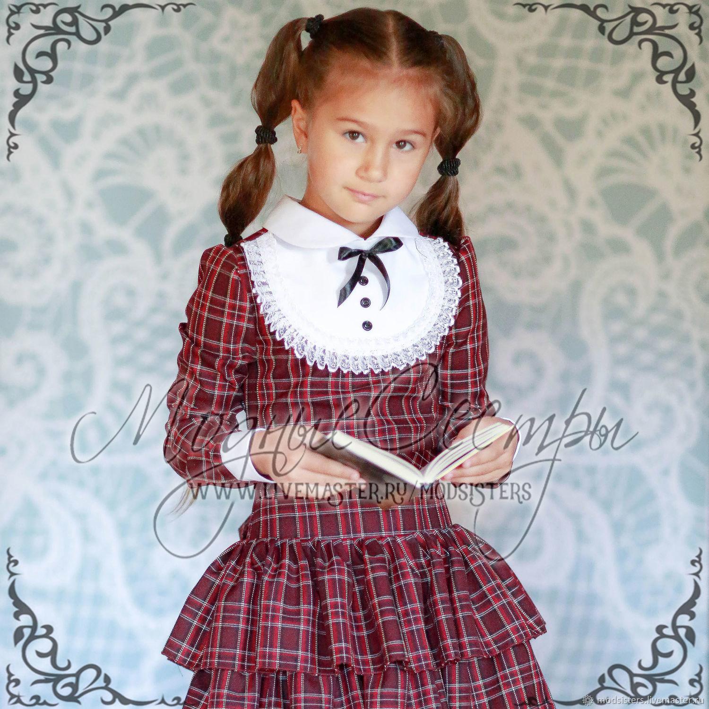 School dress Art.045 (cell), Dresses, Nizhny Novgorod,  Фото №1