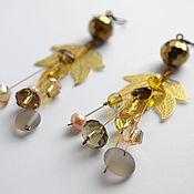 """Украшения ручной работы. Ярмарка Мастеров - ручная работа Серьги """"Gold leaf"""". Handmade."""