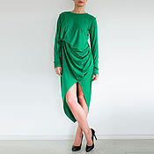 Одежда handmade. Livemaster - original item Dress long sleeve dress green Dress Maxi Dress autumn. Handmade.