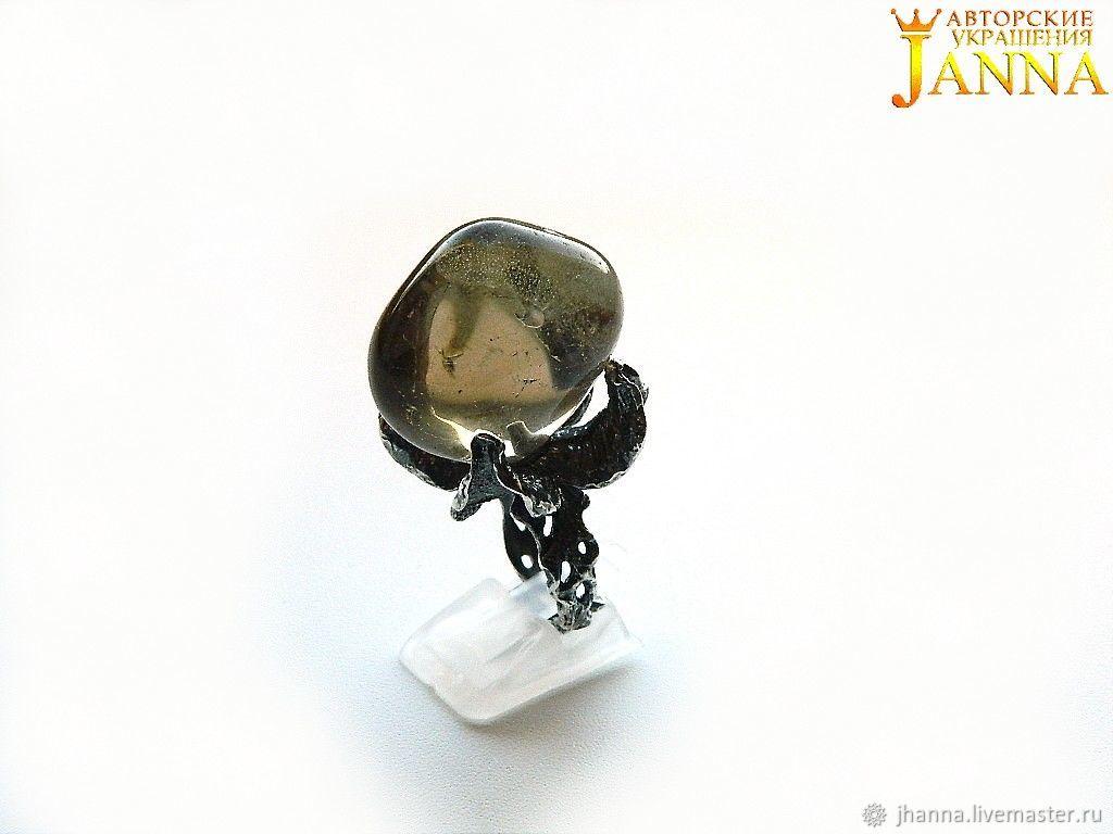 "Раухтопаз. ""Берти"" кольцо с природным раухтопазом 145 карат, Кольца, Волгоград, Фото №1"
