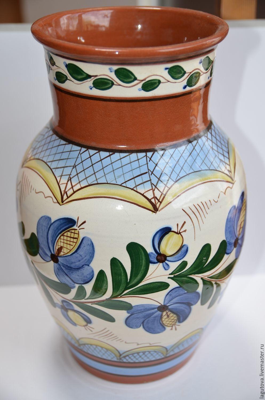 Винтаж: Большая напольная ваза ЗИК керамика высота 33 см, Предметы интерьера винтажные, Конаково,  Фото №1