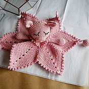 Куклы и игрушки handmade. Livemaster - original item Pale pink komforter in the form of a pig (Piglet). Symbol 2019.. Handmade.
