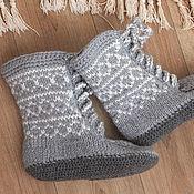 """Обувь ручной работы. Ярмарка Мастеров - ручная работа Тапочки """"Ирландские морозы"""". Handmade."""