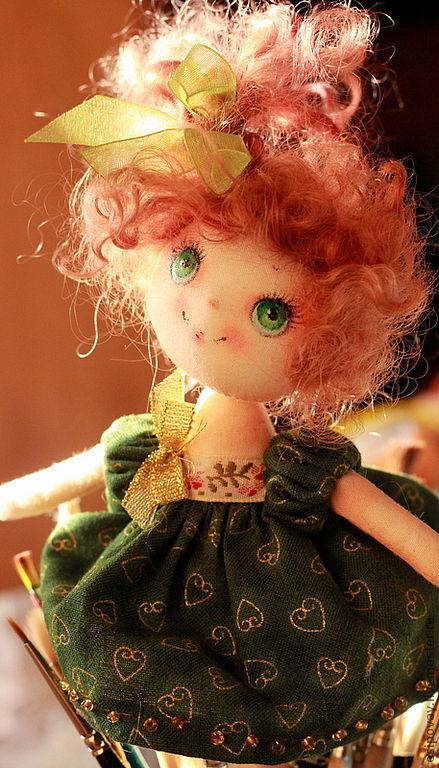Коллекционные куклы ручной работы. Ярмарка Мастеров - ручная работа. Купить Ёлочка. Handmade. Маленькое счастье, пряжа хлопок 100%