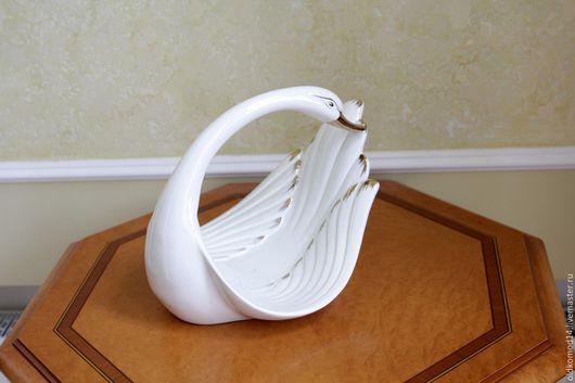 Винтажные предметы интерьера. Ярмарка Мастеров - ручная работа. Купить &&& ваза - одинокий лебедь. Handmade. Белый, ваза декоративная