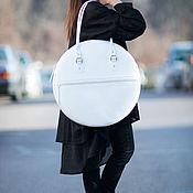 Сумки и аксессуары handmade. Livemaster - original item Women`s genuine leather bag /diameter-50cm/- BA0840LD. Handmade.