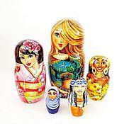 Русский стиль handmade. Livemaster - original item Women of the World matryoshka nesting wooden dolls. Handmade.