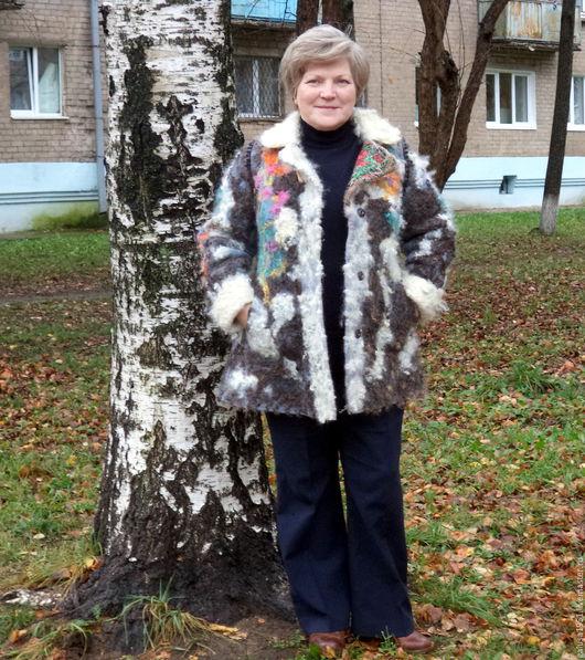 """Верхняя одежда ручной работы. Ярмарка Мастеров - ручная работа. Купить Валяное пальто - дубленка   """" Казачка"""". Handmade. Разноцветный"""