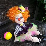 Куклы и игрушки ручной работы. Ярмарка Мастеров - ручная работа Клоунесса Лучик. Handmade.