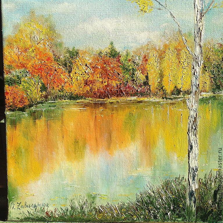 Landscapes handmade. Livemaster - handmade. Buy Landscape handmade' charm the Eyes'.Green, air, yellow