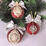 Сувениры и подарки handmade. Livemaster - original item Christmas balls. Handmade.