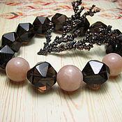 handmade. Livemaster - original item Bracelet with rauch topaz and sunstone