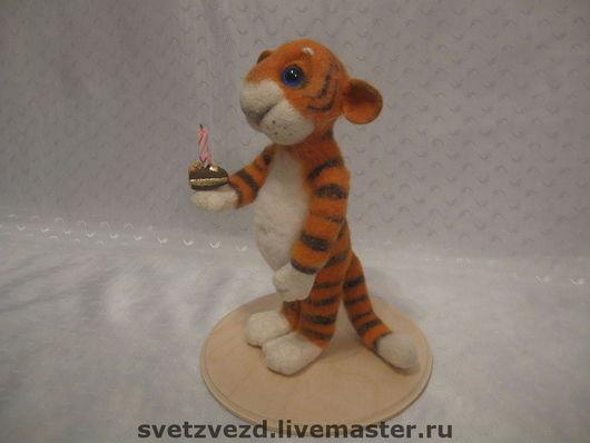 Игрушки животные, ручной работы. Ярмарка Мастеров - ручная работа. Купить игрушка Тигрушка. Handmade. Подарок, тигры, Семёновская шерсть