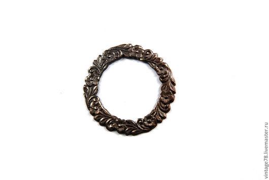 Для украшений ручной работы. Ярмарка Мастеров - ручная работа. Купить Винтажная фурнитура, латунный штамп кольцо H25. Handmade.