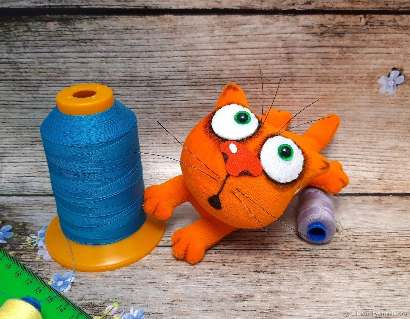 Keychain orange cat Babaika soft stuffed plush toy for cat lovers, Stuffed Toys, Moscow,  Фото №1