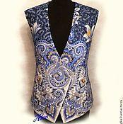 """Одежда ручной работы. Ярмарка Мастеров - ручная работа Жилет"""" Маме"""" из павловопосадского платка. Handmade."""