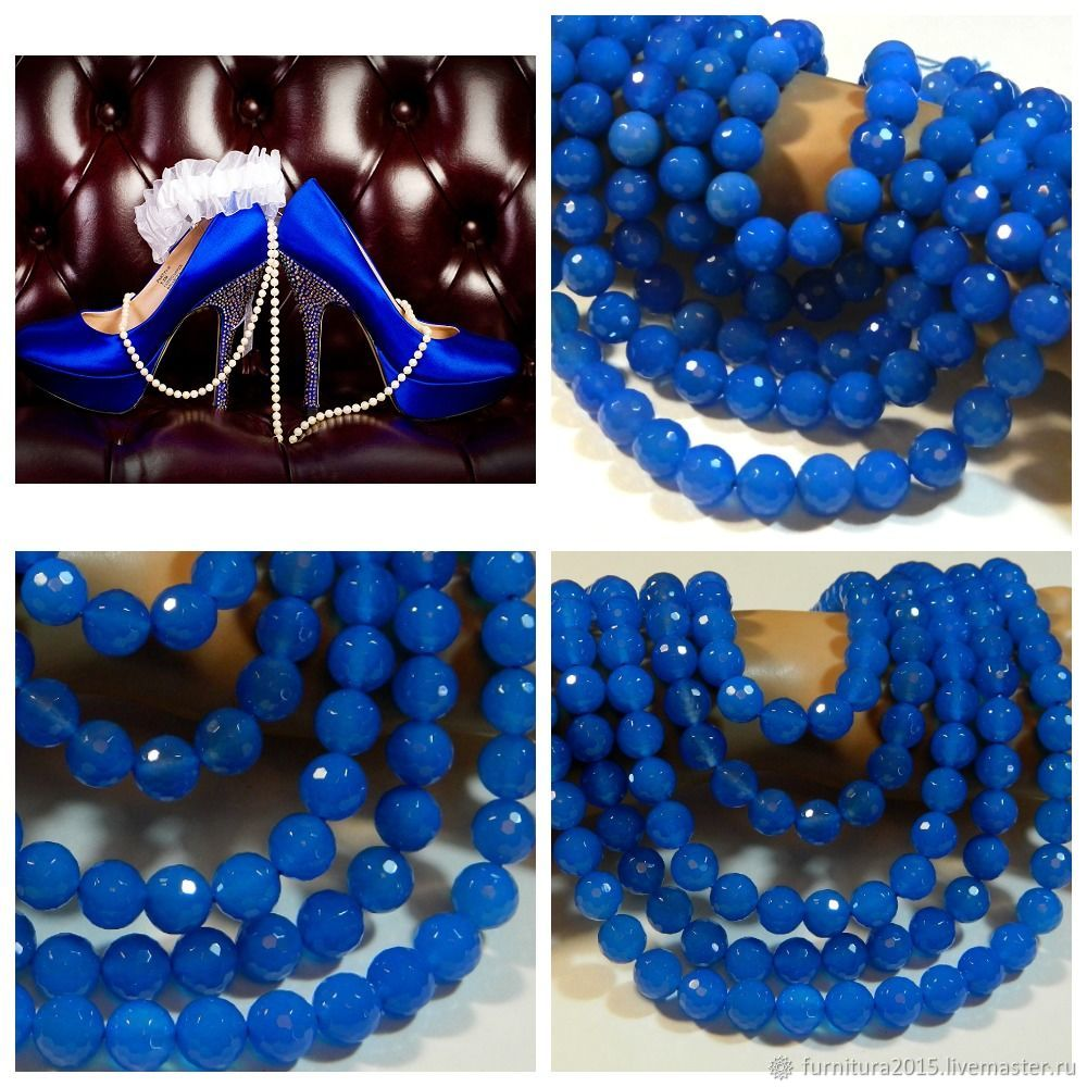 Chalcedony beads with a cut of 10 mm pieces, Beads1, Saratov,  Фото №1