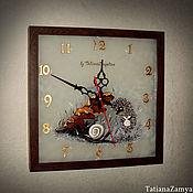 """Для дома и интерьера ручной работы. Ярмарка Мастеров - ручная работа Часы """"Ёжик в тумане"""". Handmade."""
