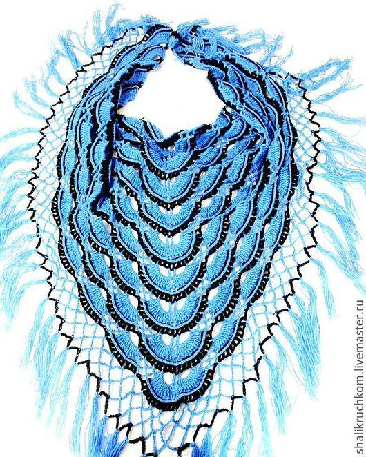 """Шали, палантины ручной работы. Ярмарка Мастеров - ручная работа. Купить Шаль """"Брызги океана"""". Handmade. Шаль, шаль в подарок"""