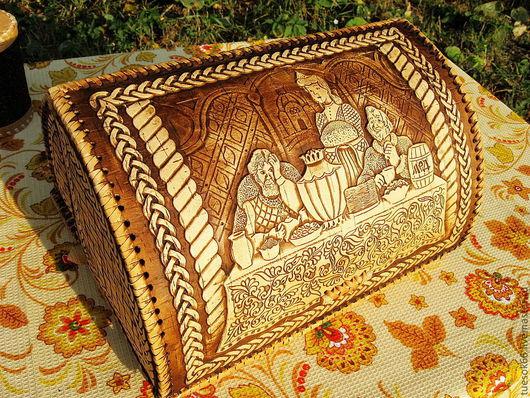 """Кухня ручной работы. Ярмарка Мастеров - ручная работа. Купить Хлебница из бересты """"Хлеб-соль"""". Handmade. Хлебница из бересты"""