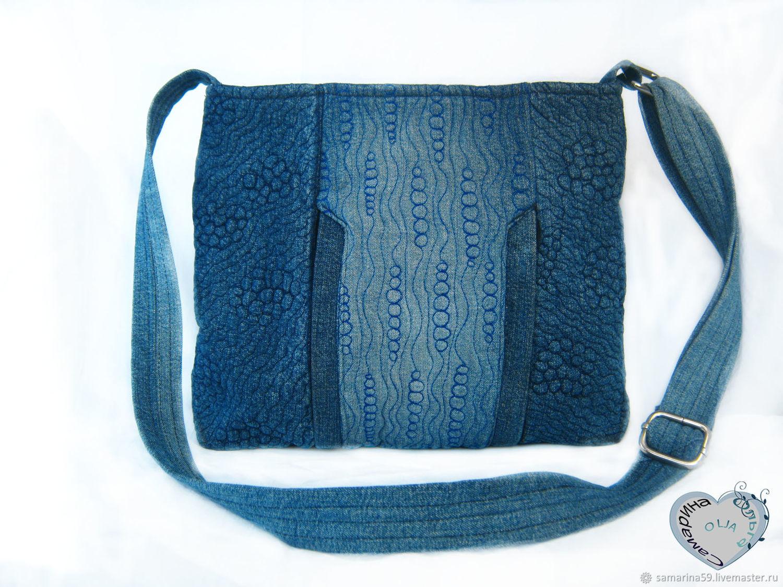 Denim bag-shoulder bag for girls summer bag, Classic Bag, Gelendzhik,  Фото №1