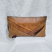Сумки и аксессуары handmade. Livemaster - original item Red leather clutch bag