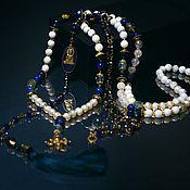 Украшения handmade. Livemaster - original item Beads of Sicily with lapis lazuli. Handmade.
