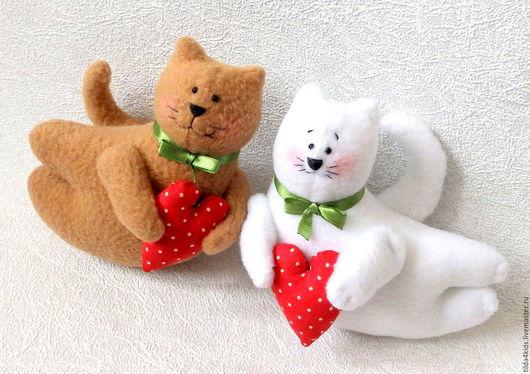 Кот Валентинка. Игрушка, сувенир, день влюбленных, 8 марта, свадьба, подарок, подарок ручной работы.