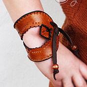 """Украшения ручной работы. Ярмарка Мастеров - ручная работа Оригинальный кожаный браслет """"Gypsy Magic"""". Handmade."""