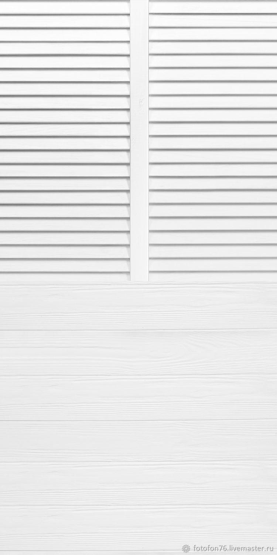 Фотофон Белые ставни (пол/стена) 50х100 см, Атрибутика, Ярославль, Фото №1