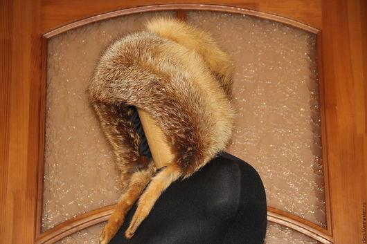 Верхняя одежда ручной работы. Ярмарка Мастеров - ручная работа. Купить Лисья шапка для примера. Handmade. Рыжий, меховая шапка
