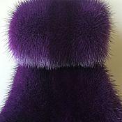 Мех ручной работы. Ярмарка Мастеров - ручная работа Норковые пластины сиренево-фиолетового цвета. Handmade.