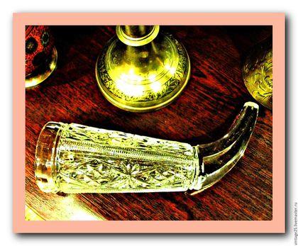 Винтажные предметы интерьера. Ярмарка Мастеров - ручная работа. Купить Хрустальный рог Дятьково 70 е годы. Handmade. Белый