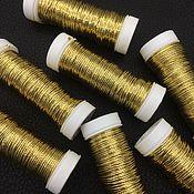 Нитки ручной работы. Ярмарка Мастеров - ручная работа Metallics GIMP 36, цвет G102, металлизированный шнур Au Ver a Soie. Handmade.