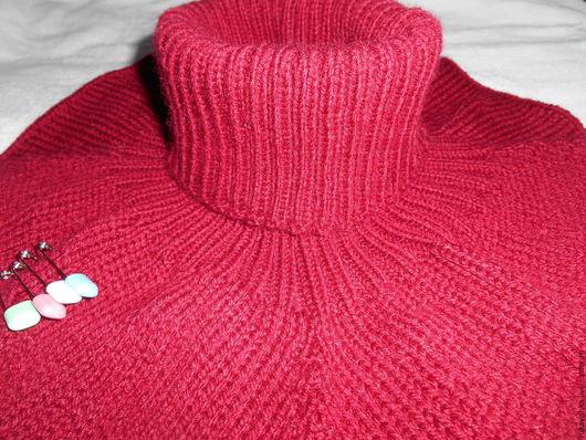 Шарфы и шарфики ручной работы. Ярмарка Мастеров - ручная работа. Купить Манишка бордовая. Handmade. Бордовый, шарф