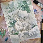 Картины и панно ручной работы. Ярмарка Мастеров - ручная работа Иллюстрации с животными. Handmade.