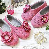 """Обувь ручной работы. Ярмарка Мастеров - ручная работа Тапочки """"Розовые сны"""". Handmade."""