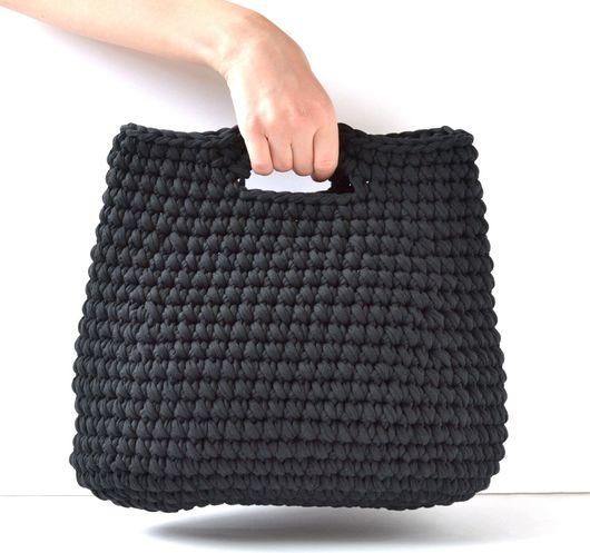 Женские сумки ручной работы. Ярмарка Мастеров - ручная работа. Купить Идеальная сумочка Бритт. Сумка, черная сумка, вязаная сумка. Handmade.