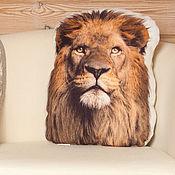 Подарки к праздникам ручной работы. Ярмарка Мастеров - ручная работа Подарок мужу. Мужу в подарок, подушка Лев. Handmade.