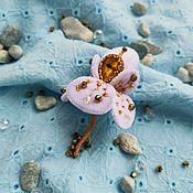 """Украшения handmade. Livemaster - original item Velvet Brooch """" Iris"""". Handmade."""