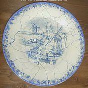 """Посуда ручной работы. Ярмарка Мастеров - ручная работа Тарелка """"Сны о Голландии"""". Handmade."""
