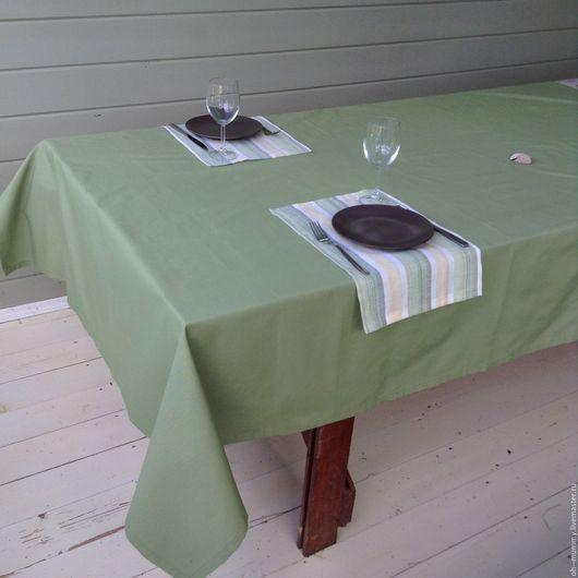 Текстиль, ковры ручной работы. Ярмарка Мастеров - ручная работа. Купить Скатерть зеленая. Handmade. Салатовый, ужин