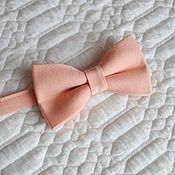 Аксессуары handmade. Livemaster - original item Tie soft peach / butterfly-tie for peach wedding. Handmade.