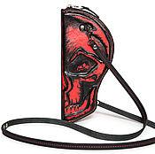 """Сумки и аксессуары ручной работы. Ярмарка Мастеров - ручная работа Женская сумочка Anton Newman """" Skull Line - RED"""". Handmade."""