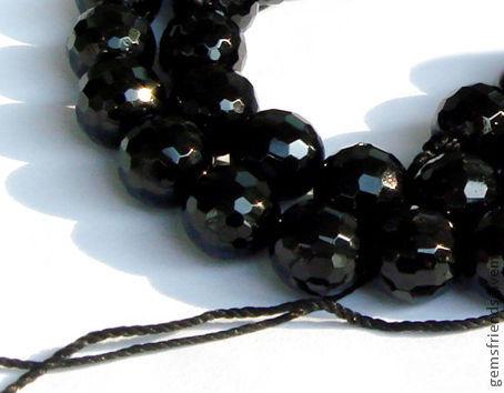Для украшений ручной работы. Ярмарка Мастеров - ручная работа. Купить Бусины поштучно натуральный Черный Турмалин Шерл  размер от 4 до16 мм. Handmade.