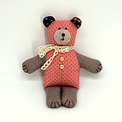 Куклы и игрушки handmade. Livemaster - original item Little teddy bear made of patchwork fabrics. Handmade.