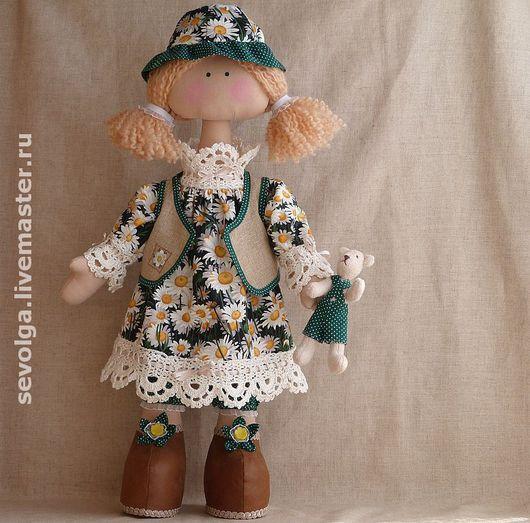 Коллекционные куклы ручной работы. Ярмарка Мастеров - ручная работа. Купить Девочка Ромашка. Handmade. Куклы и игрушки, кукла в подарок